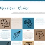 Page d'accueil du site de Monsieur Olivier (détail).